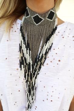 black necklace detail
