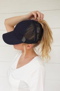 high navy hat